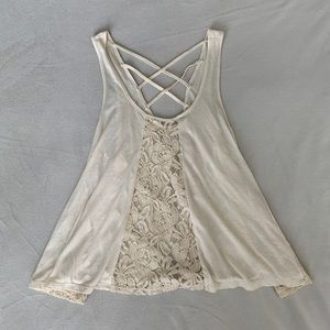 Altar'd State white lace tank top